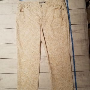 Chico's lace print jeans size 3 preowned
